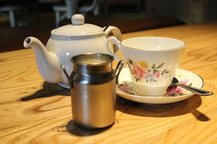 Tea served in china tea cups at Hatties Baslow www.hattiesbaslow.co.uk