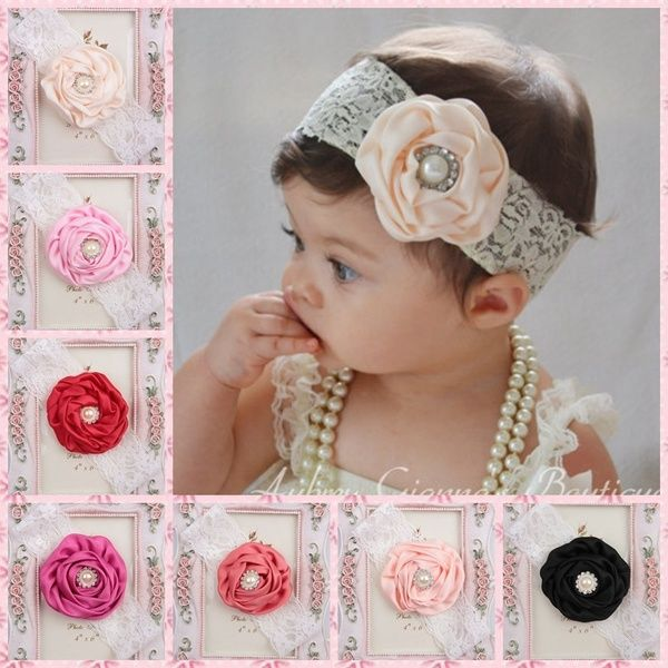 Fashion Headwear Princess Floral Photography props Flower Baby Headband Pearl