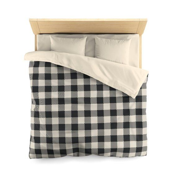 This Black And White Buffalo Plaid Duvet Cover Will Brighten Up Your Bedroom Pair It With Coordinating Sheets A Duvet Covers Twin Duvet Covers Matching Pillow