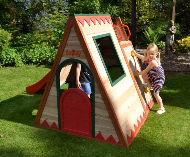 ActivKids Wooden Playhouse with Slide and Boat Sandpit