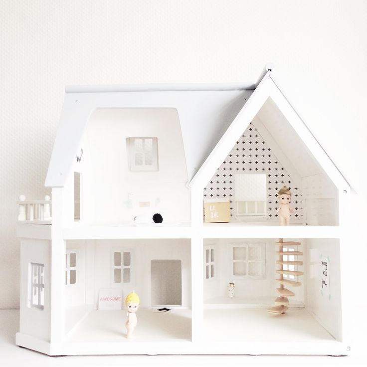 DIY dollhouse (painted white) x
