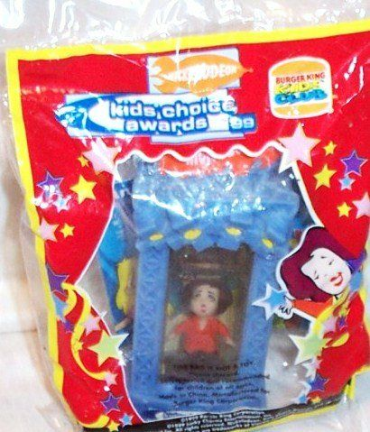 Burger King Kids Meal Nickelodeon Kids Choice Awards 1999 Rosie O'Donnell Slimed Again Toy. Toy features Rosie O' Donnell inside a Nickelodeon slime tank.