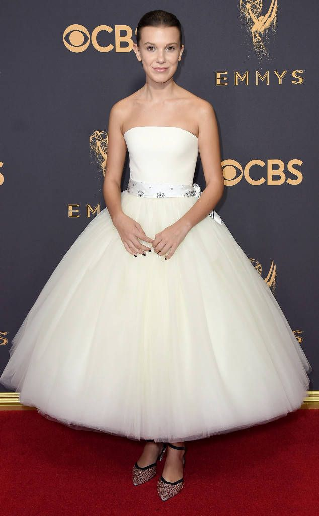 Millie Bobby Brown from 2017 Emmys Red Carpet Arrivals  In Calvin Klein by Appointment