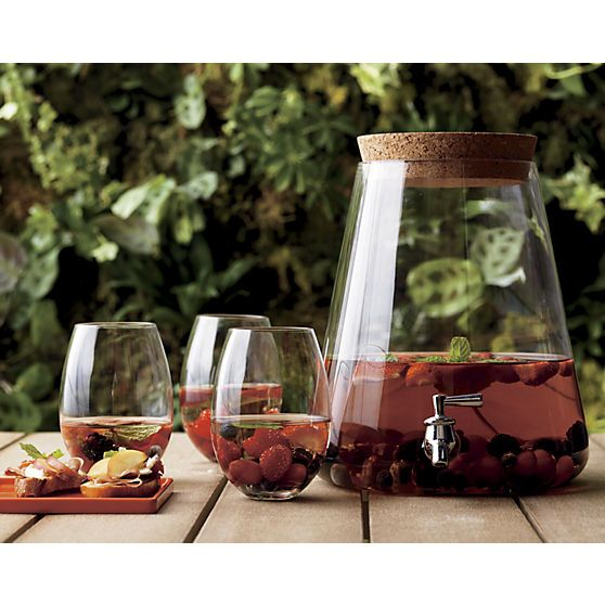 glass beverage dispenser in outdoor entertaining   CB2 #Anthropologie #PinToWin