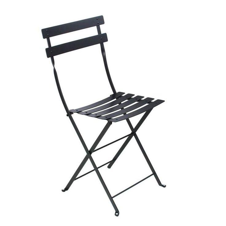 Fermob - Bistro Metall - Silla plegable - negro/metal