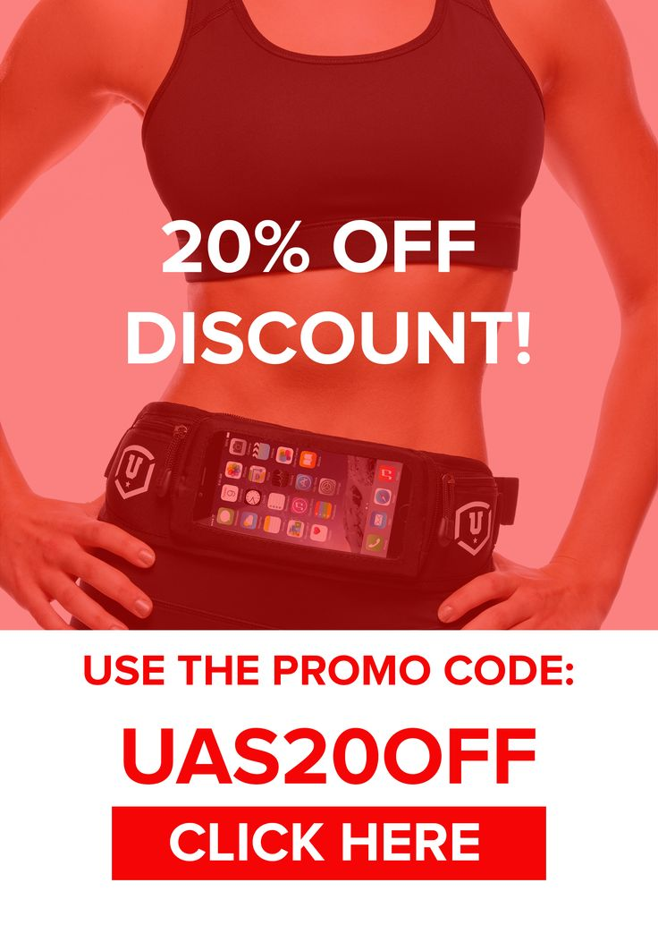 20% OFF DISCOUNT! Use the promo code UAS20OFF at the end of the checkout process and get 20% off our Best Selling running belt!  Limited time offer! Grab yours now!