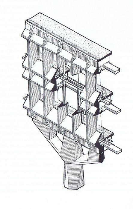 IBM Research Complex, La Gaude, France  (Marcel Breuer, 1961-79)