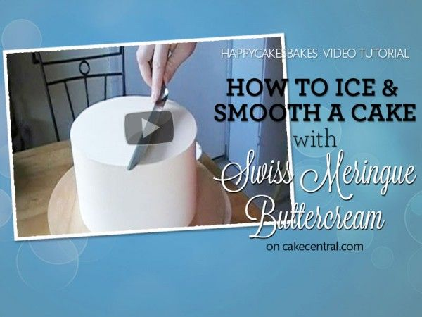 How to Ice & Smooth a Cake with Swiss Meringue Buttercream