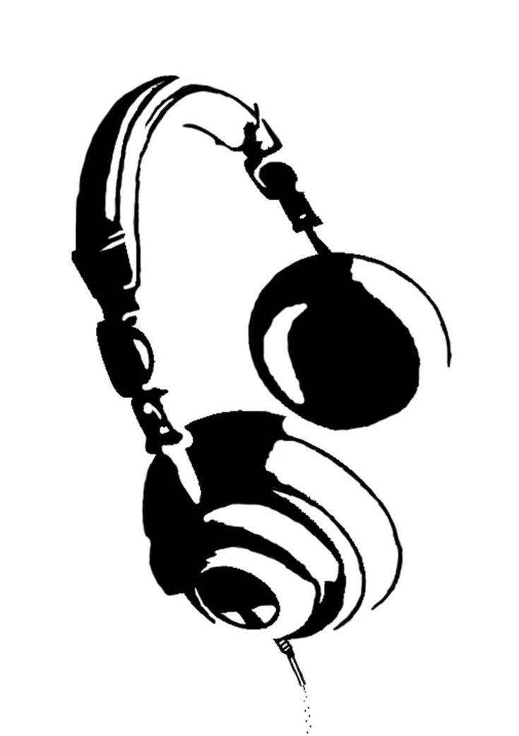Headphones Stencil by ~phibzz on deviantART