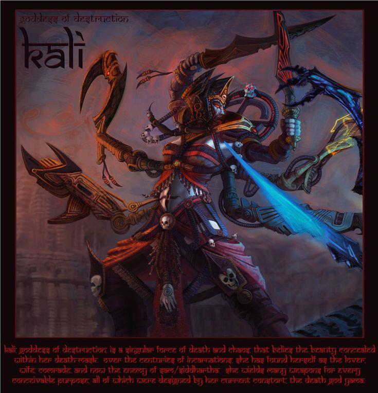 Pin By Isobel On Isobel May Ledden In 2019: Kali, Goddess Of Destruction By Jubjubjedi On DeviantArt