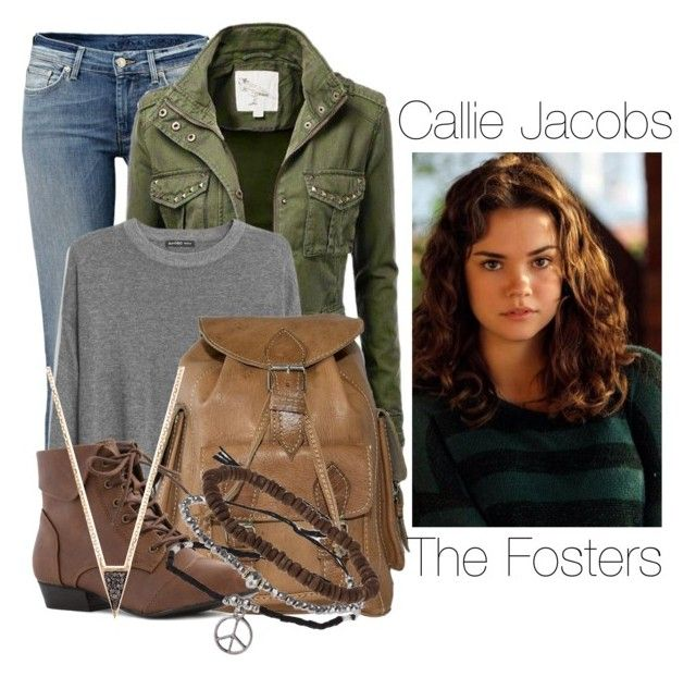 Callie Jacobs- The Fosters by twilight-vs-hunger-games-fan on Polyvore featuring MANGO and Topshop