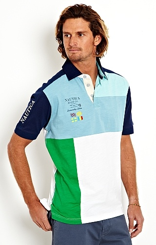 Men's Pieced Surfer Polo - Nautica.com