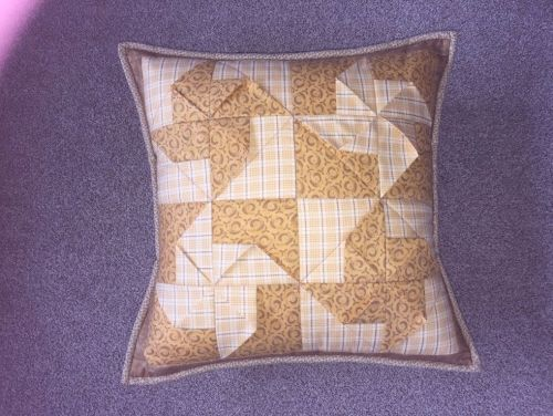On the hunt for your next sewing project? This lovely cushion pattern uses three different fabrics from your stash of long quarters to create something quite different.