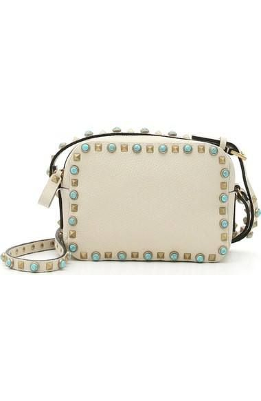 'Rockstud - Alce' Camera Leather Crossbody Bag