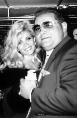 Gambino goon Carmine Agnello with his wife, Victoria Gotti, in their last photo together as a couple.