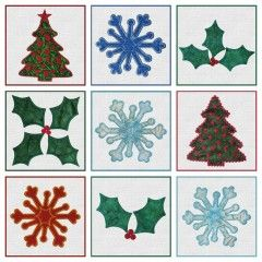 GO! Holiday Medley Embroidery Designs CD by Marjorie Busby (MBME55043)