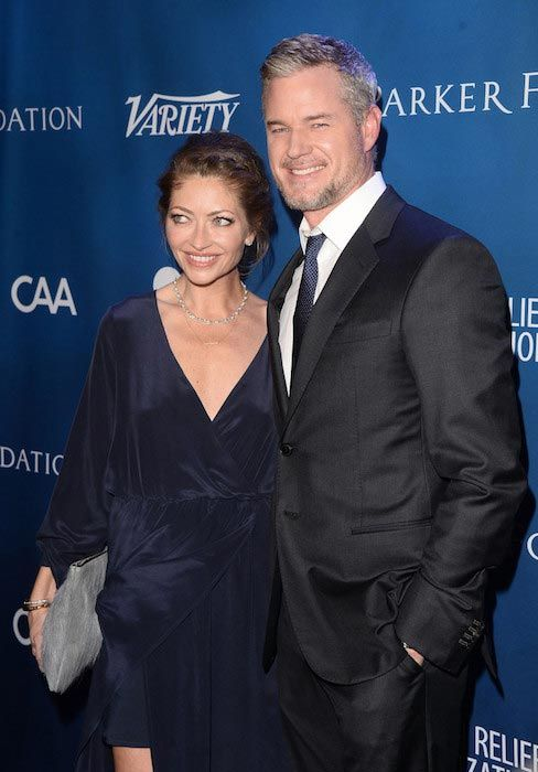 Eric Dane and Rebecca Gayheart at the 5th Annual Sean Penn and Friends Gala in January 2016...