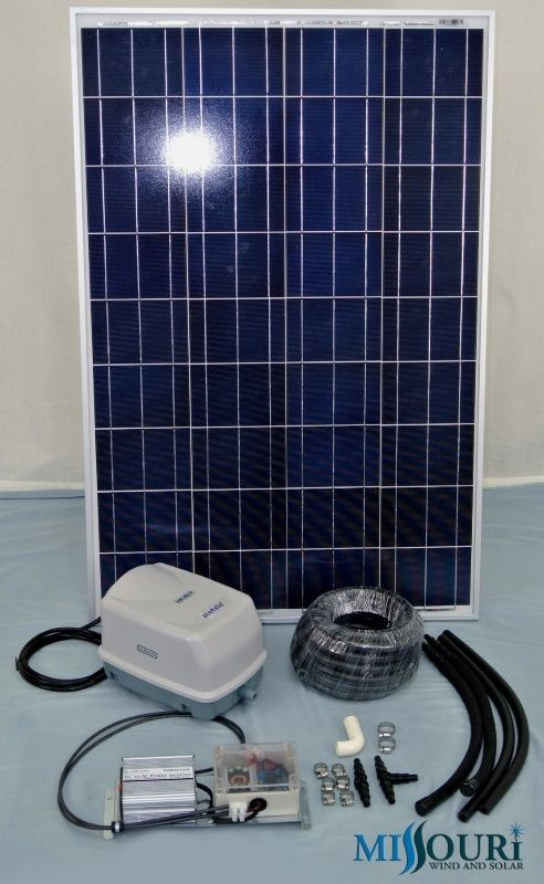 100 Watt Solar Pond Aeration Kit With Suntaqe Digital Pwm