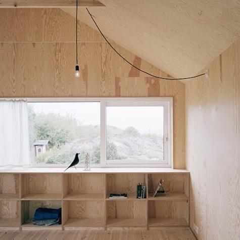 Architect Visit: Johannes Norlander in Sweden : Remodelista    plywood interiors