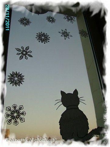 Интерьер Сказка Украшение Новый год Вырезание Украшаем окна к Новому году или Новогодняя сказка на окне Бумага Клей фото 11