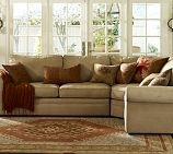 Pottery Barn sectional: Pottery Barns Style, Living Rooms, Wall Color, Families Rooms Sectional, Pottery Barns Couch, Studios Couch, Pottery Barns Sectional, Bonus Rooms, Sectional Sofas
