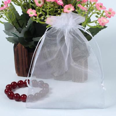 500pcs/bag 7x9cm Selection Colors Jewelry Packing Drawstring Organza Bags ,Gift Bags & Pouches, wedding candy bags