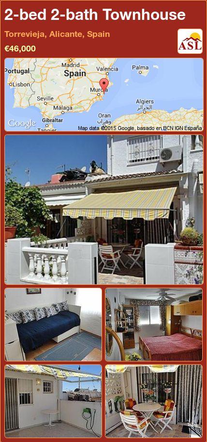 2-bed 2-bath Townhouse in Torrevieja, Alicante, Spain ►€46,000 #PropertyForSaleInSpain