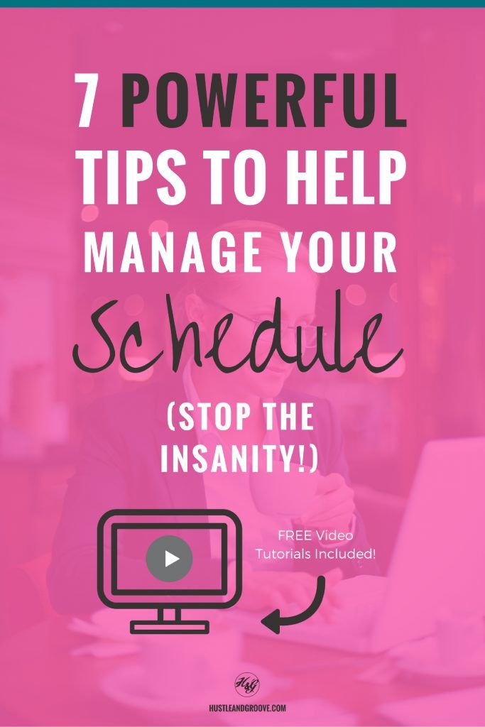 Sick of being late to everything or missing deadlines? It's time to get your schedule sorted! Learn how to manage your schedule now, free video tutorials included! Click through to learn more.