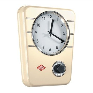 Wesco Metal Kitchen Clock - Almond