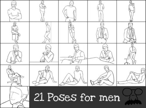 21 Poses For Men Get inspired…Follow Hucklebury for a daily dose of fresh styles! We make 100% Egyptian Cotton shirts woven in Italy that you will love!http://blog.hucklebury.com/post/53983635053/21-poses-for-men-get