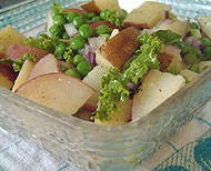 A very healthy mayonnaise-free and gluten-free potato salad recipe with lots of nutritious vegetables.