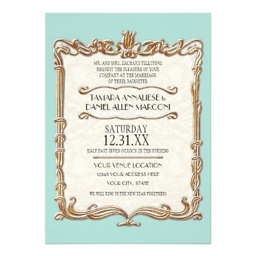 Gatsby Art Deco Nouveau Lace Faux Gold Tulip Card  Lace BackgroundWedding  Invitation  50 best Great Gatsby Art Deco Wedding images on Pinterest   Art  . Regency Wedding Invitations. Home Design Ideas