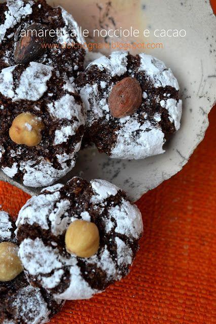 Amaretti alle nocciole e cacao