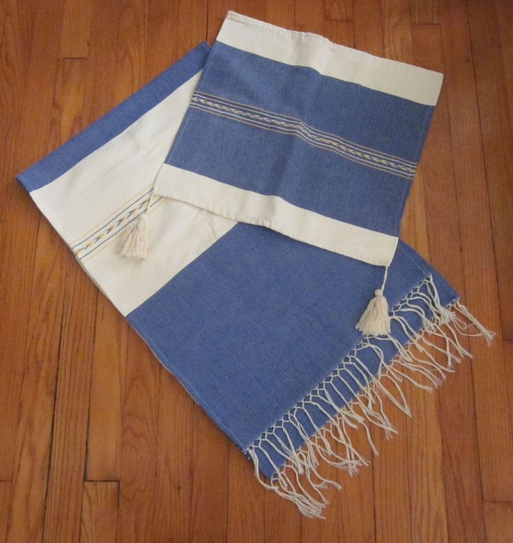 Multi-Color Southwestern Table Runner And Matching Pillow Sham Fringed Tasseled #Unbranded