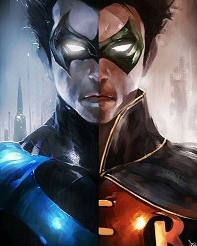 #Nightwing/#Robin by @WizYakuza by thegeekrealm