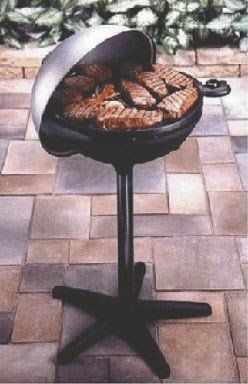 "George Foreman Indoor-Out- Door Electric Bbq Grill 17.5"" D 240 Sq. In. GEORGE FOREMAN GGR50B GRILL INDOOR OUTDOOR ..."