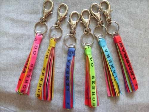 kit 06 chaveiros fitas / fitinhas senhor do bonfim