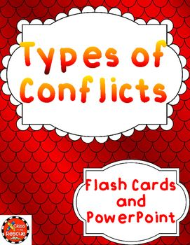 This is an add on resource to the study of conflict types in your classroom.  After students are introduced to the 7 types of Character vs. _________ conflict types, this resource can be used as a review or for remedial support.  There is a PowerPoint to use on the Smartboard for a whole class activity.There are the same slides in flash card form to use for extra support.There are 8 story summaries for students to practice on.