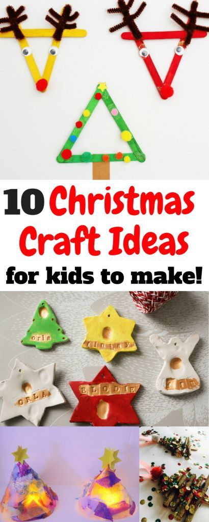 Easy Christmas Craft ideas for kids to make. Crafts for children in the Christmas Holidays! Christmas Craft Round-up