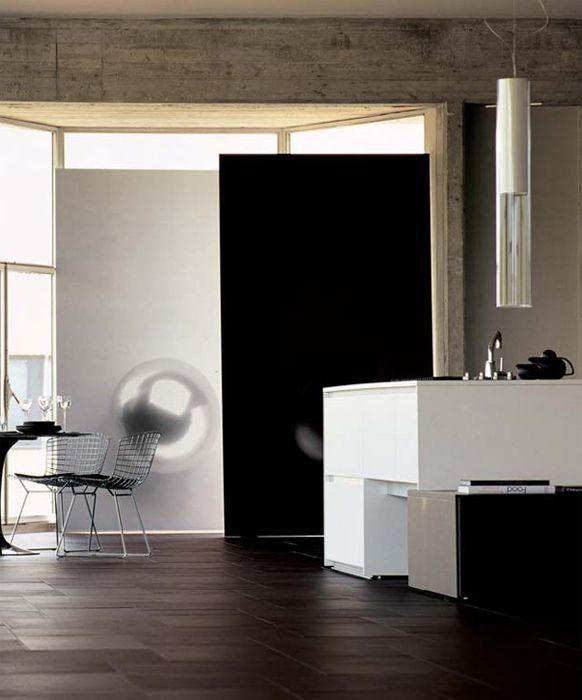 Boffi kitchen in panoramic loft, Lo Studio design www.lostudiodesign.com photo: Armando Bertacchi