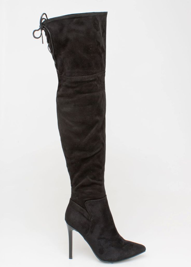 Lupa over the knee boot, μαύρο