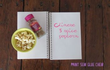 Customise simple popcorn with these 4 easy to make recipes. 4 awesome recipes - Chinese 5 Spice // Paint Sew Glue Chew