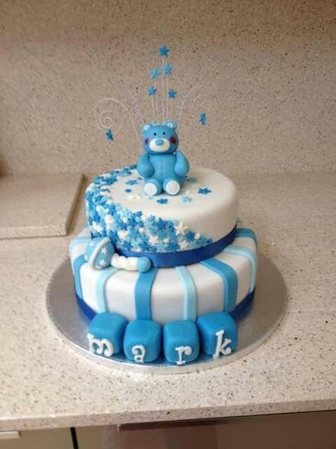 Boy Christening Cake #2