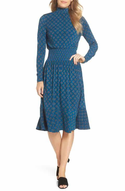 732fae0bd63 MICHAEL Michael Kors Foulard Smocked Midi Dress Best Reviews in 2019 ...