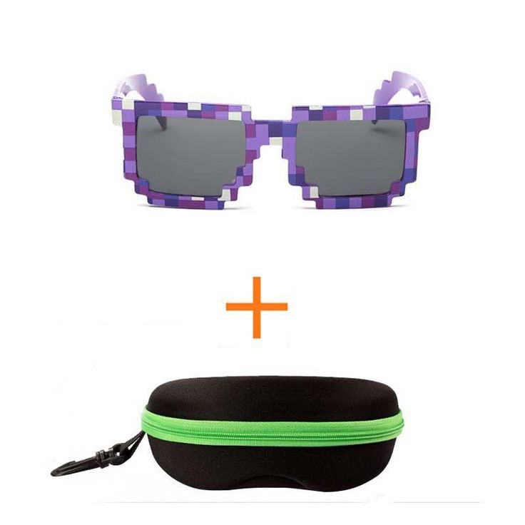 4 color! Fashion Minecrafter Sunglasses Kids cos play action Game Toys Square Glasses with EVA case gifts for Men Women Go here - http://primosunglasses.com to get special pricing and save up to 90%!  Primo Sunglasses is the best kept secret, but not for long!