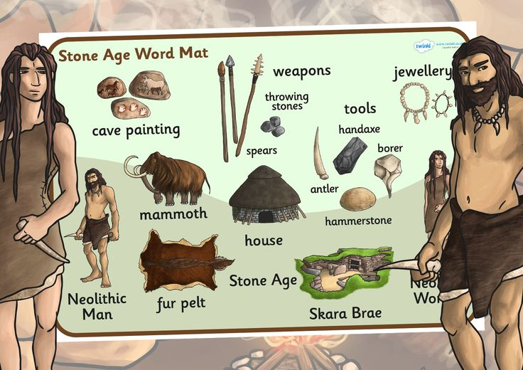 KS2 The Stone Age- Stone Age Word Mat