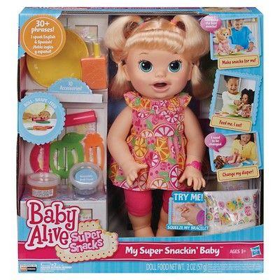 Baby Alive Super Snacks Snackin Sara Blonde Products