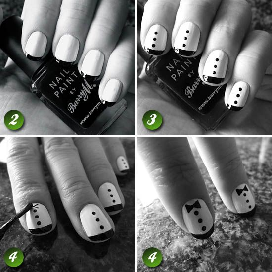 Love this tuxedo nail  http://beaut.ie/blog/2012/beaut-ie-how-to-zooey-deschanels-well-dressed-nails/