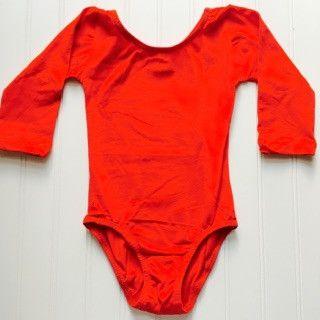 Olivia's Classic Long Sleeve Red Leotard