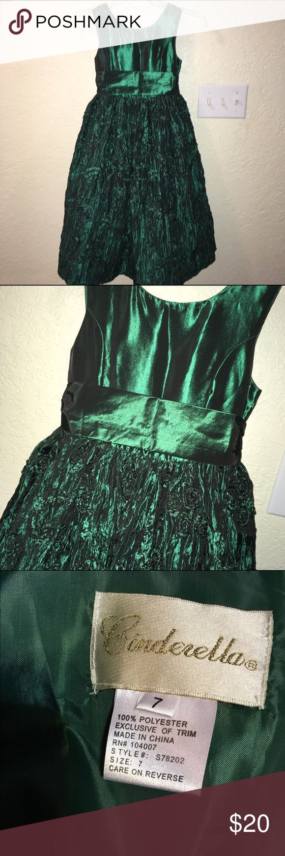 ✨🆕Listing✨ Cinderella Brand Girls Formal Dress Beautiful green colored dress great for the holidays, church or formal event. This dress has been worn a 1-2 times and is in good condition. Cinderella Dresses Formal